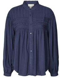 Lolly's Laundry Cara Blouse Dark Blue