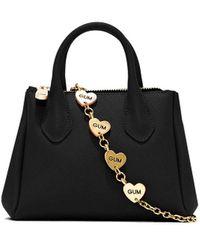 Gum Handbag Fourty Small Heart Chain - Black