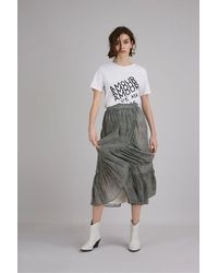 Suncoo Felicite Leopard Print Skirt - Gray