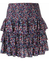 Michael Kors Women's Ms07f3pe1p624 Multicolor Viscose Skirt - Blue