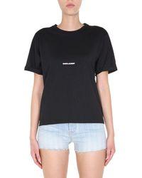 Saint Laurent Round Neck T-shirt - Black