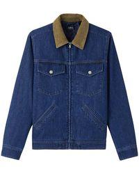 A.P.C. Apc Denim Jacket Colour: Navy - Blue