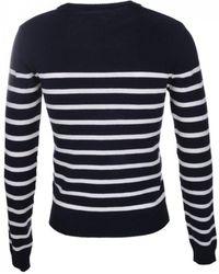 Maison Labiche Stripe Sweater Amour - Blue