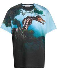 Valentino Men's Tv0mg05y67t87m Light Blue Cotton T-shirt