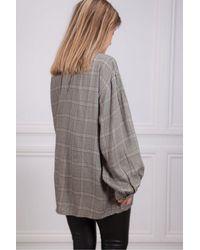 Swildens Adrien Check Oversize Shirt - Grey