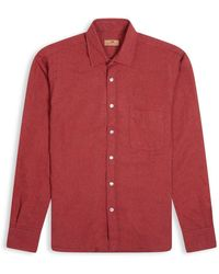 Burrows and Hare Micro-check Shirt - Red