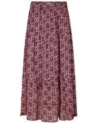 Lolly's Laundry Bonny Skirt Flower Print - Purple