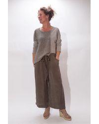 Crea Concept Crop Trousers - Brown