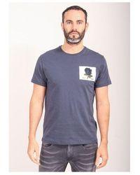 Kent & Curwen Rose Patch Icon T-shirt Colour: Deep Blue
