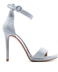 Albano Silver Heeled Sandals - Metallic