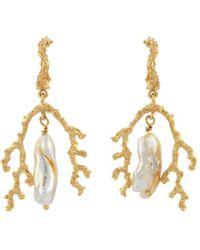 Zoe & Morgan Mutiara Earrings - Metallic