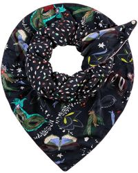 POM Amsterdam Double Mysterious Masks Scarf - Black