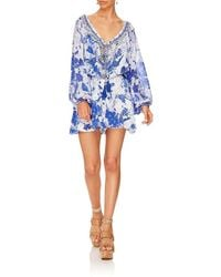 Camilla Women's 841plac029 Blouson Sleeve Playsuit In Blue