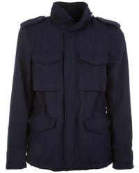 Aspesi - Men's I5acg20934594097 Blue Wool Outerwear Jacket - Lyst
