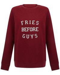 BRUNETTE the Label Fries Before Guys Sweatshirt - Red