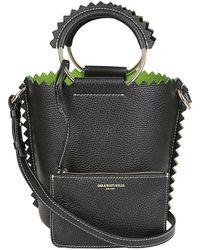 Sara Battaglia - Bucket Bag In Black - Lyst
