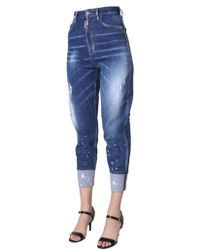 DSquared² Sassoon 80's Fit Jeans - Blue
