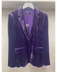 Marc Cain Collections Fine Velvet Blazer 741 Pc 34.17 W20 - Purple