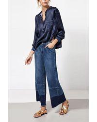 INTROPIA Culotte Wide Leg Jeans Denim Blue