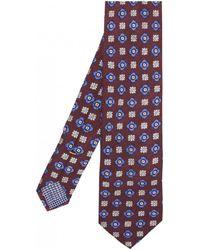 Eton of Sweden - Silk Flower Patterned Tie - Lyst