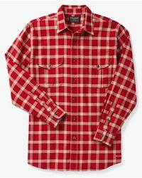 Filson Light Weight Alaskan Guide Shirt - /cream/blue - Red