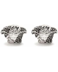 Versace Crystal-embellished Medusa Cufflinks - Metallic