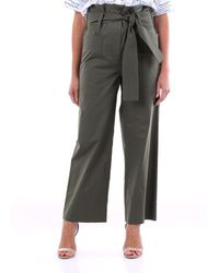 P.A.R.O.S.H. - Trousers Cargo Women Military Green - Lyst