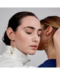 Alison Fern Jewellery Melanie Earring - Metallic