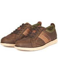 Barbour - Men's Finn Leather Trainers - Lyst