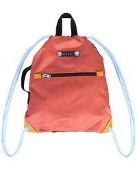 Marni Nylon Backpack - Red