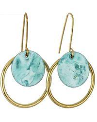 Sibilia Small Patina Nazar Earrings - Metallic