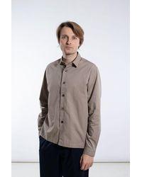 Delikatessen Shirt / Relaxed Shirt / Beige - Brown