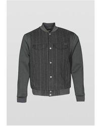 Antony Morato Pin Stripe Bomber Sweatshirt Colour: , - Black