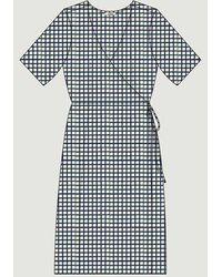 Loreak Mendian Carmen Dress Navy - Blue