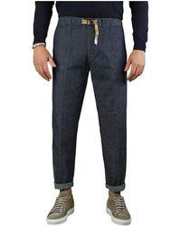 White Sand Jeans Chino Blu Scuro - Blue