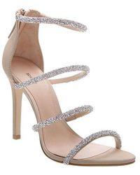 Schutz Nude Sparkly Strap Sandals - Multicolour