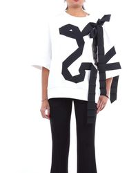 Dries Van Noten Knitwear Crewneck Women Black And White