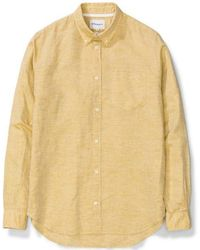 Norse Projects Osvald Bd Cotten Linen Sunwashed Yellow