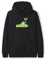 Butter Goods Frog Pullover - Black