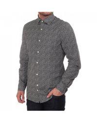 J.Lindeberg Dani Ls Shirt With All Over Small Floral Print - Gray