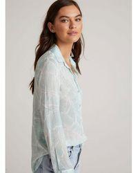 Bella Dahl Button Down Shirt - Palm Print , Colour:haolp - Multicolor
