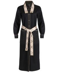 Thale Blanc Beverly Quilted Coat Dress - Black