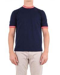 Eleventy T-shirt Short Sleeve Men Blue