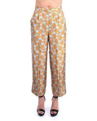 Beatrice B. . 21fe1493alo674 Pantalone Cropped In Seta Fantasia - Multicolour