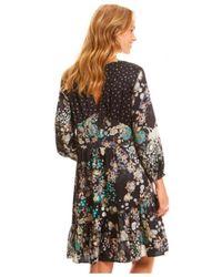 Odd Molly - Flower Fantasy Flirt Dress In Almost Black - Lyst