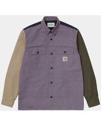 Carhartt Wip L/s Valiant 4 Shirt - Provence - Multicolour