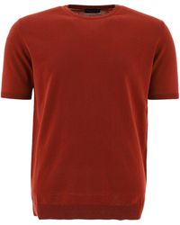 Roberto Collina Re34021re3434porpora Other Materials T-shirt - Red