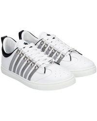 DSquared² Stripe Sneekers Colour: White