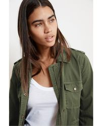 Velvet By Graham & Spencer Velvet By Graham Spencer Ruby Army Jacket In Forest - Green