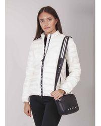 Replay Taped Zip Puffa Jacket Colour: White